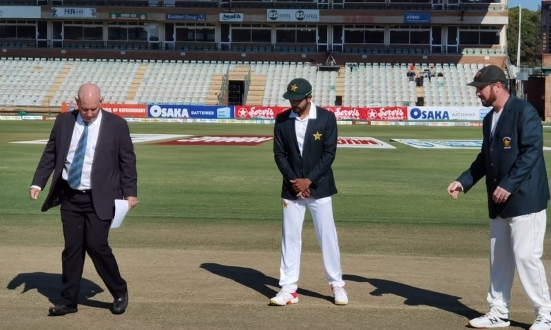 Zimbabwe won the toss and chose to bat in the first Test against Pakistan at Harare Sports Club, Zimbabwe, April 29. — Photo courtesy PCB Twitter