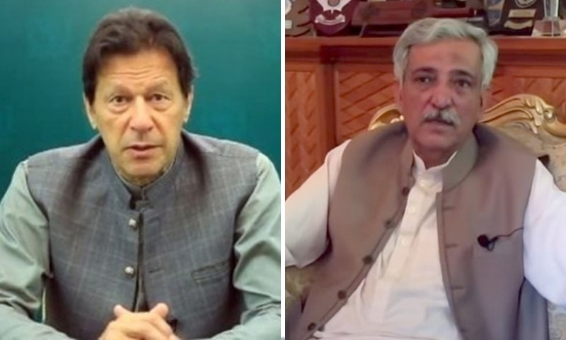 This combo photo shows Prime Minister Imran Khan (left) and former FIA chief Bashir Memon. — Photo courtesy Radio Pakistan/DawnNewsTV Screengrab