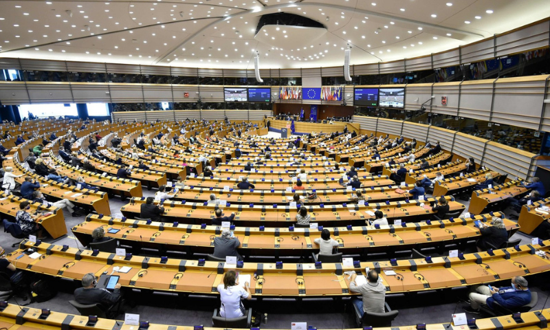 In this Sept 2020 file photo, European Union lawmakers attend a plenary session at the European Parliament in Brussels. — AFP