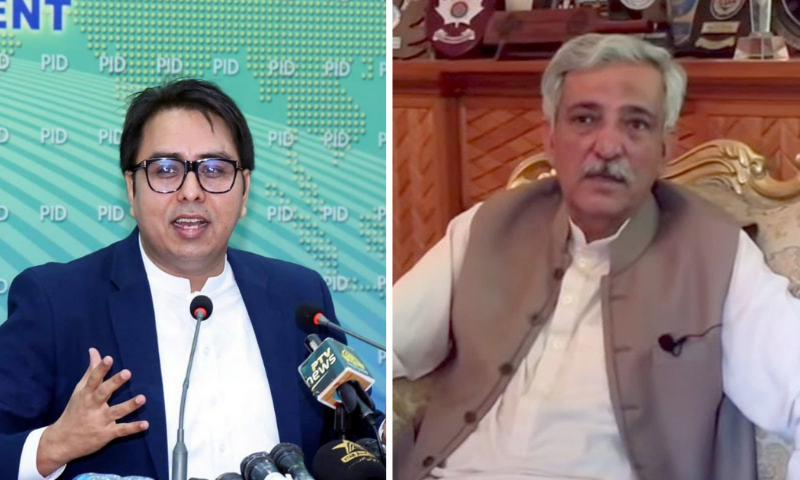 This combination file photo shows Special Assistant to the PM on Political Information Dr Shahbaz Gill (L) and former Federal Investigation Agency director general Bashir Memon (R). — Photo courtesy screengrab from video on Matiullah Jan's YouTube channel/PID