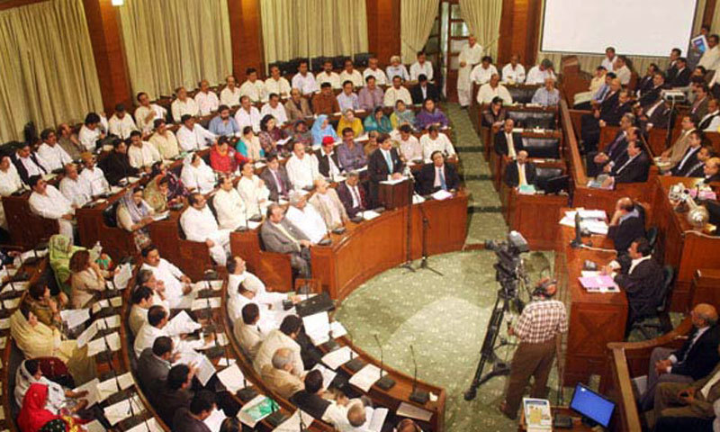 As many as 13 members from both sides of the aisle participated in the pre-budget discussions in the Sindh Assembly on Friday. — Dawn/File