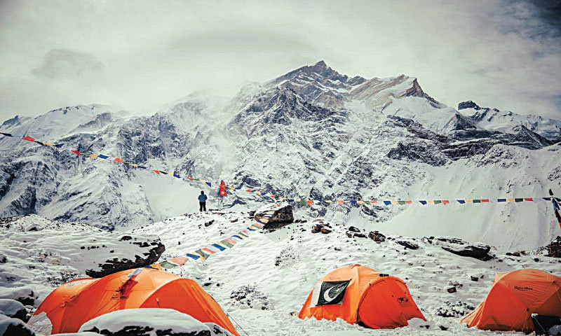 The Annapurna basecamp with the Pakistan tent