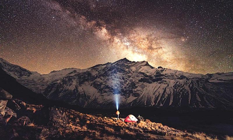 Annapurna at night | Photos by Kamran Ali