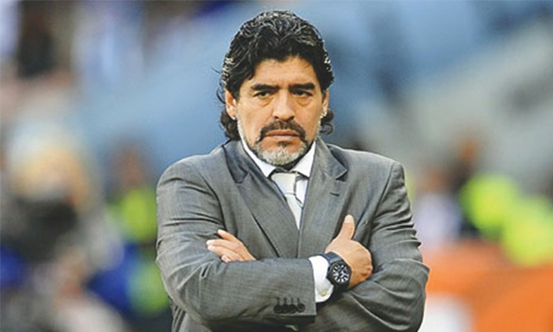 Argentine World Cup winning captain Diego Maradona. — File photo