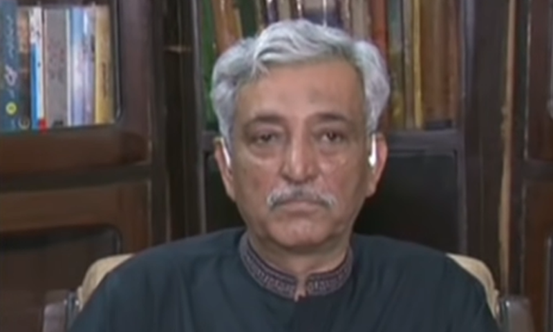 This photo shows former director general of the Federal Investigation Agency (FIA), Bashir Memon, speaking to Geo News. — Screengrab courtesy DawnNewsTV