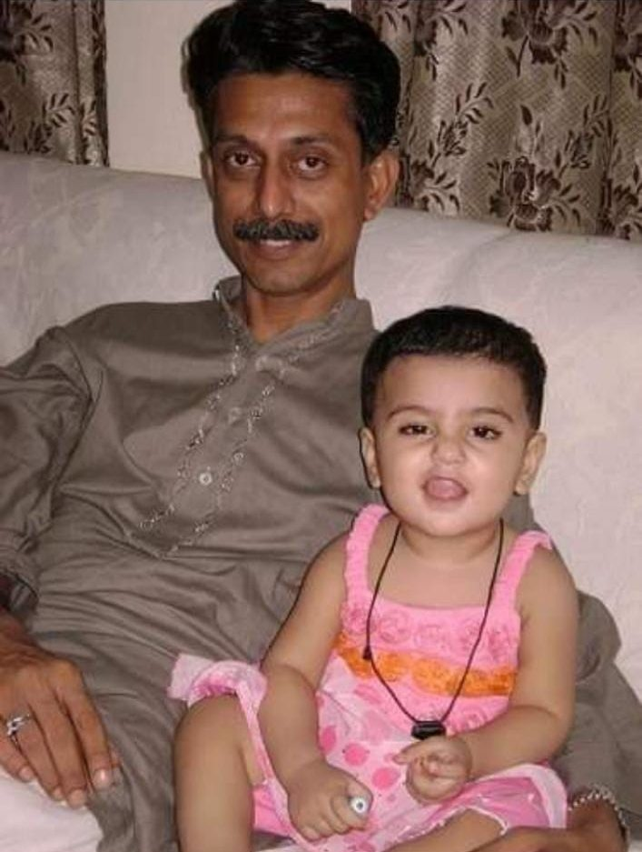 Shan with his older daughter Rania Batool.