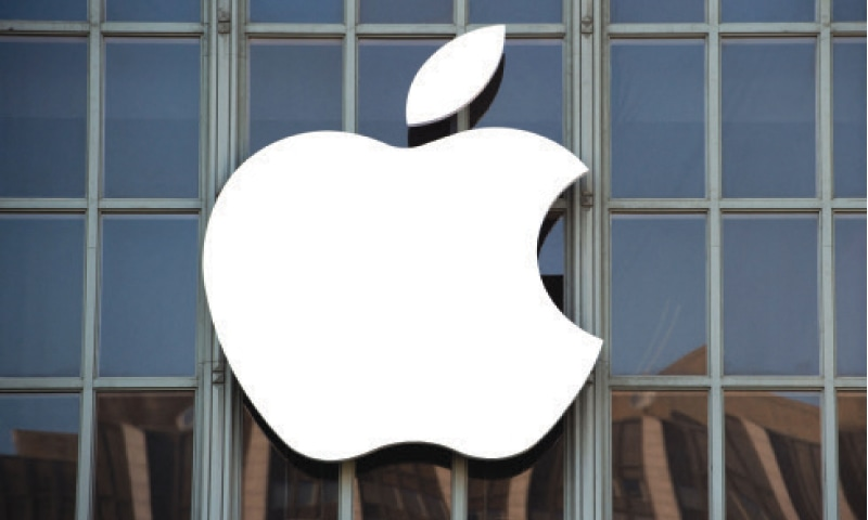 The Apple logo is seen outside the Bill Graham Civic Auditorium before the start of an event in San Francisco, California. The EU formally accused Apple last week of unfairly squeezing out music streaming rivals through its App Store in one of the biggest-ever competition cases to hit the iPhone maker.—AFP