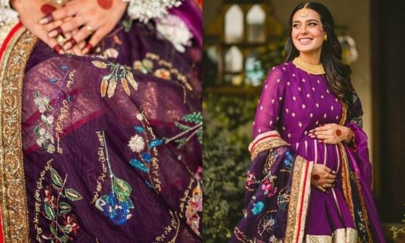 اس خاص موقع پر اقرا عزیز نے ڈیزائنر فہد حسین کا تیار کردہ منفرد لباس پہنا تھا—فوٹوز: انسٹاگرام