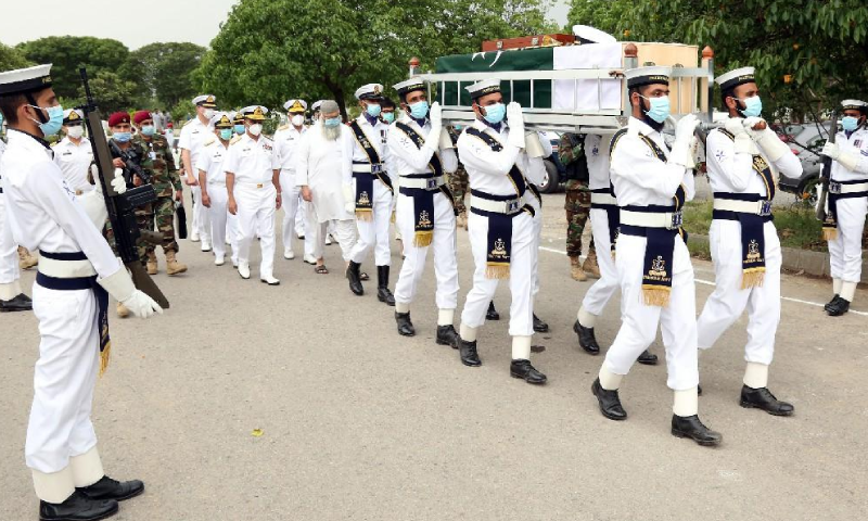 صدر مملکت، وزیراعظم  اور آرمی چیف نے اظہار تعزیت کیا—فوٹو: پاک بحریہ