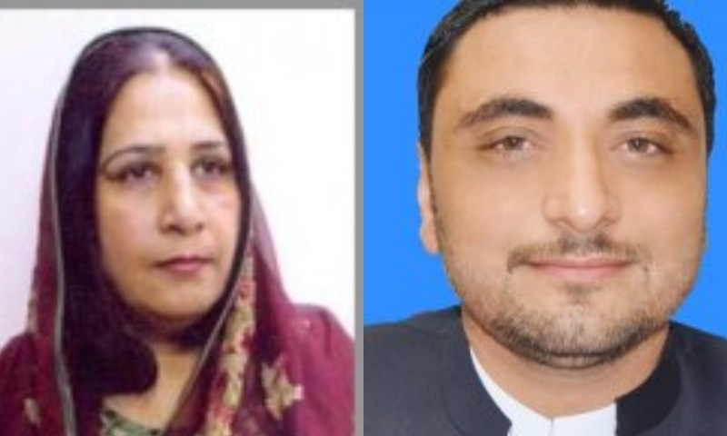 Tis combo photo shows PPP lawmaker Nighat Orakzai and BAP's Shafiq Sher Afridi.— Photo courtesy KP assembly website