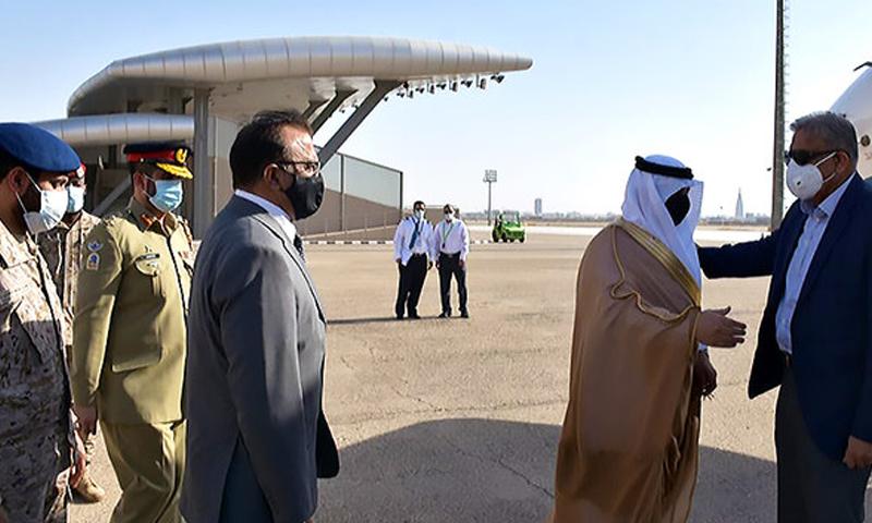 This photo shows COAS Gen Bajwa arriving in Saudi Arabia. — Photo courtesy Pakistan Embassy in Riyadh