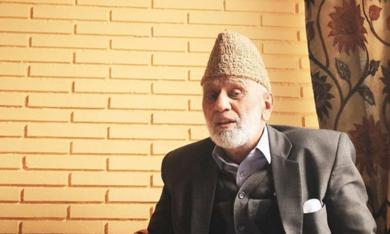 Senior Kashmiri leader Mohammad Ashraf Sehrai who challenged India's rule over occupied Kashmir for decades died on Wednesday while in police custody. — Photo via The Print