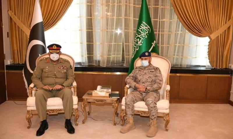 General Qamar Javed Bajwa, Chief of Army Staff (COAS) called on His Excellency General Fayiadh Bin Hamed Al Rowaily, Chief of General Staff (CGS), Saudi Armed Forces at Riyadh. — Photo courtesy ISPR website
