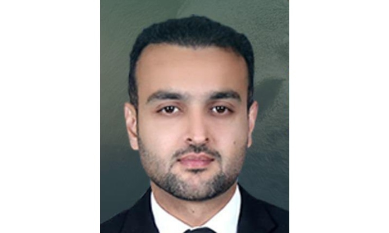 This photo shows PML-N nominee Barrister Moazzam  Sher Kallu. — Photo courtesy Twitter