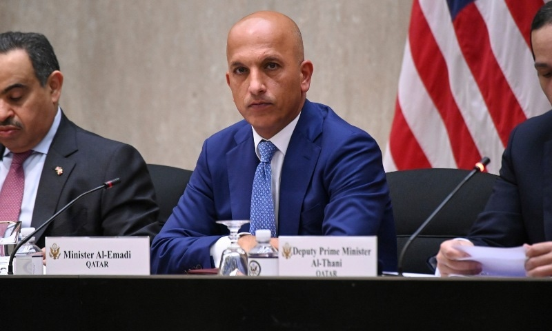 In this Sept. 14, 2020, file photo, Qatar's Finance Minister  Ali Shareef al-Emadi listens during the third annual US-Qatar Strategic Dialogue at the State Dept. in Washington. — AP