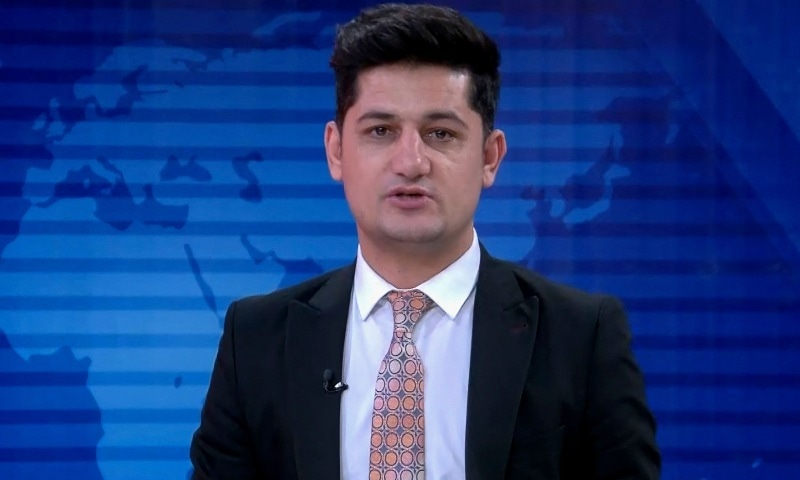 In this undated handout screengrab, TV journalist Nemat Rawan is seen during a news broadcast of ToloNews channel. — AFP/TOLOnews