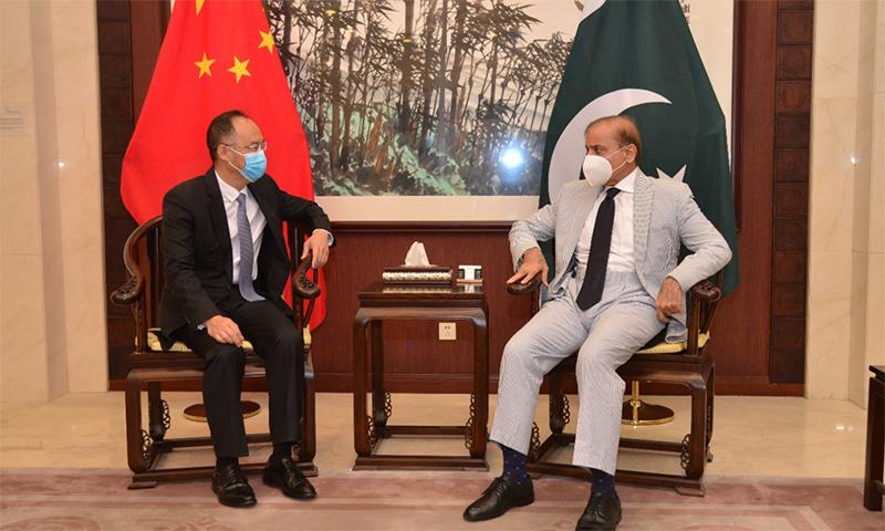 شہباز شریف کی چینی سفیر اور برطانوی ہائی کمشنر سے ملاقاتیں