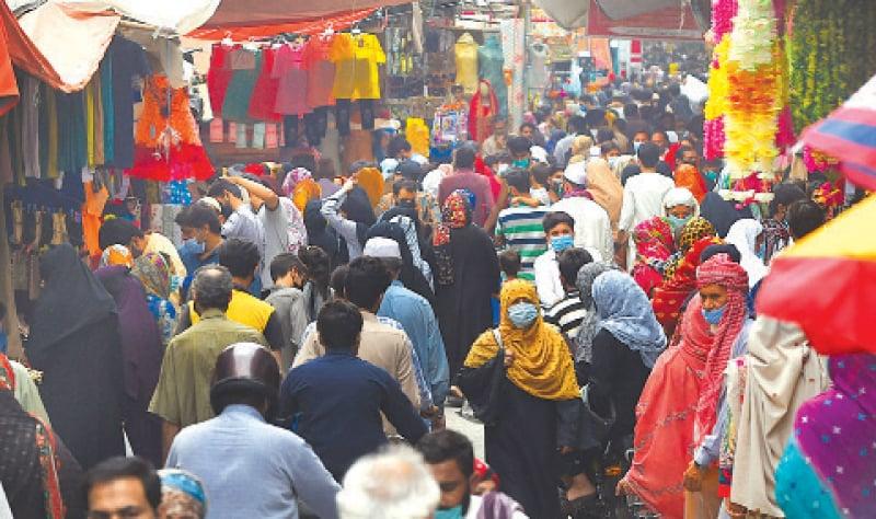 Eid shopping rush in Ichhra Bazaar. — White Star