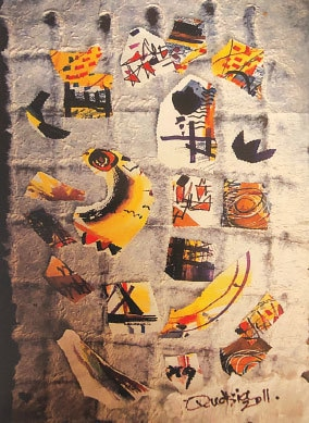 Untitled painting by Qudsia Azmat Nisar