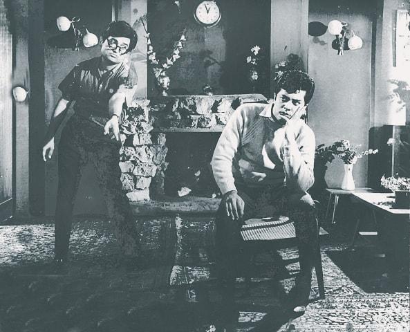 Waheed Murad  (Nasir) and Nirala (Shahid) in Armaan