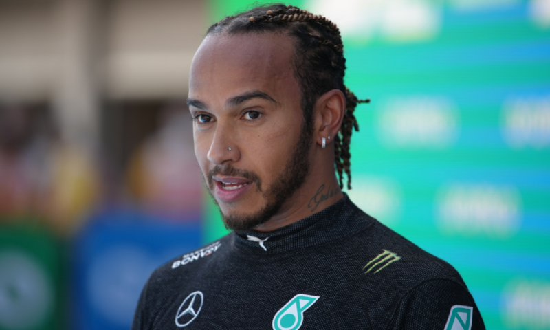 Mercedes' Lewis Hamilton after qualifying in pole position. — Reuters
