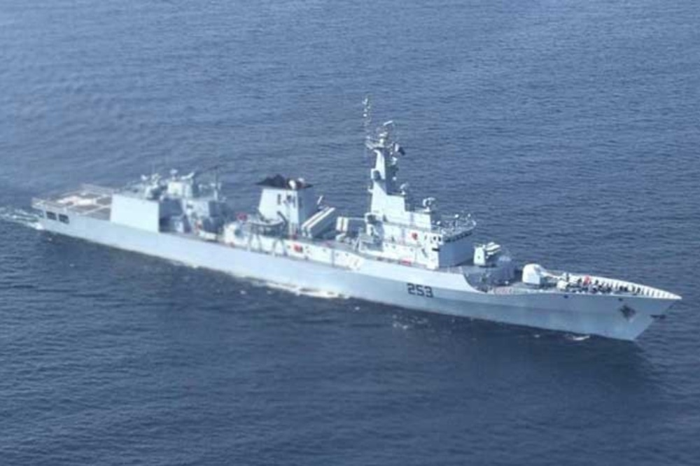 A Pakistan Navy Ship (PNS) Saif participated in the focused operation Chinook Archer along with ships and aircraft of the United States and Canada in Arabian Sea. — Photo courtesy Govt of Pakistan Twitter/File
