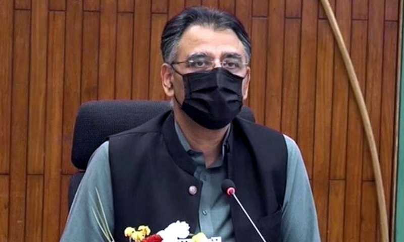 NCOC head and Planning Minister Asad Umar says not a single case of  the Indian variant has been reported in Pakistan so far. — APP/File