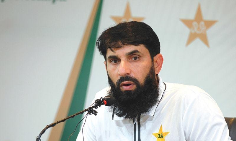 ہیڈ کوچ مصباح الحق نے وائٹ بال کرکٹ میں پاکستان کی مڈل آرڈر کی ناکامی پر تشویش کا اظہار کیا— فائل فوٹو بشکریہ پی سی بی