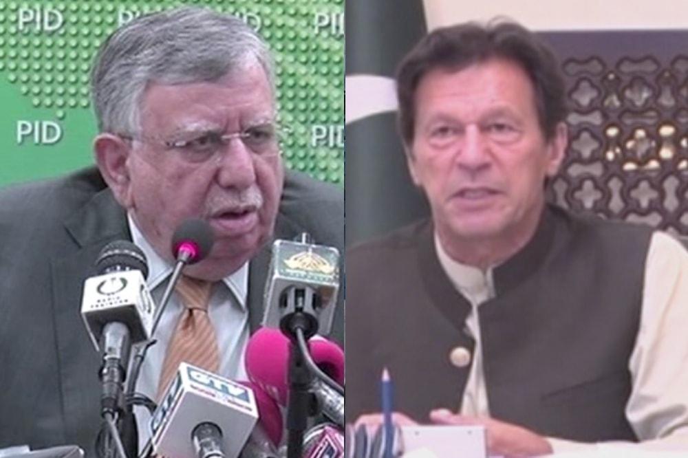 This combo photo shows finance minister Shaukat Tarin (left) and PM Imran Khan. — DawnNewsTV