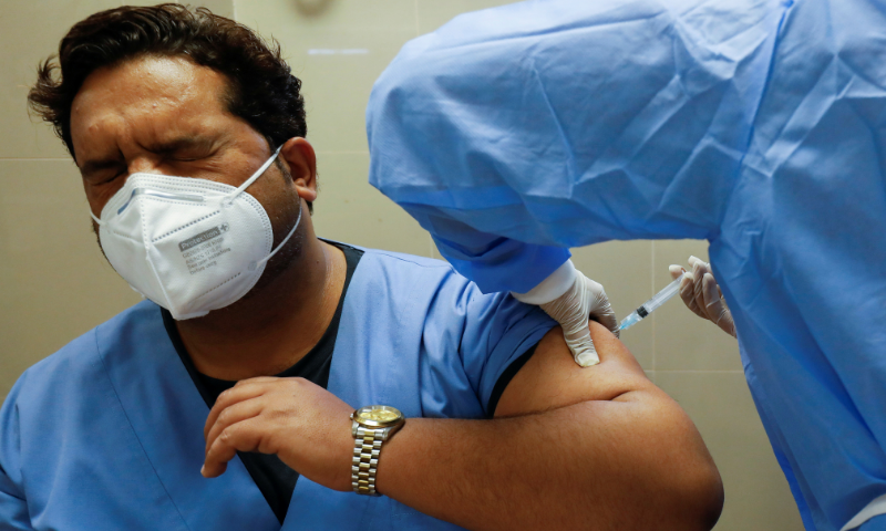 The health authorities said overall 35 counters had been set up at both the centres with cumulatively capacity to vaccinate over 3,000 people per day. — Reuters/File