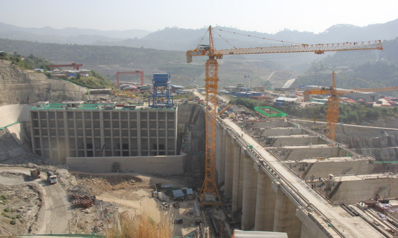A view of the Karot Hydropower Project being built on the River Jhelum. — Photo courtesy Asim Bajwa Twitter