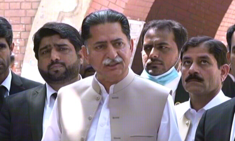 This file photo shows PML-N leader Javed Latif. — DawnNewsTV/File