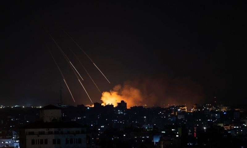 Smoke rises following Israeli missile strikes on Gaza City, Thursday, May 13, 2021.  — AP