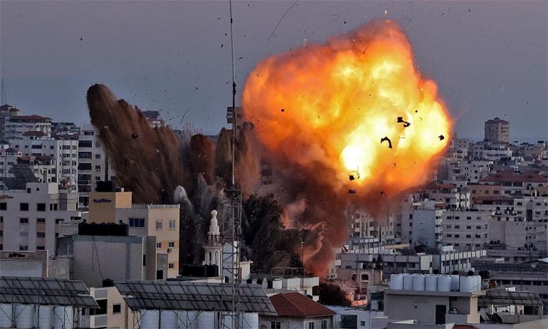 غزہ: اسرائیلی حملوں کے نتیجے میں جاں بحق فلسطینیوں کی تعداد 122 ہوگئی