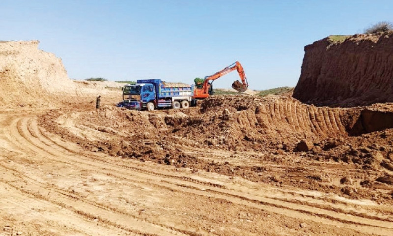 Development work underway in I-15 sector. — Photo by Mohammad Asim