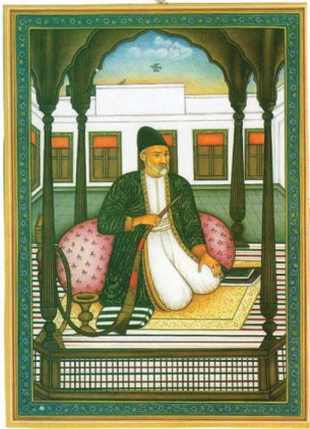 A painting of Ghalib dated 1856 | Wikimedia Commons