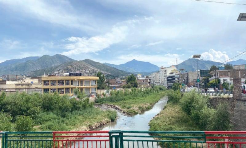 A view of the Mingora stream. — Dawn