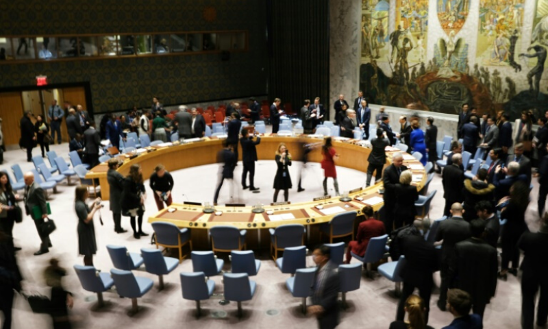 A UN Security Council meeting held in January 2020, before the global pandemic. — AFP/File