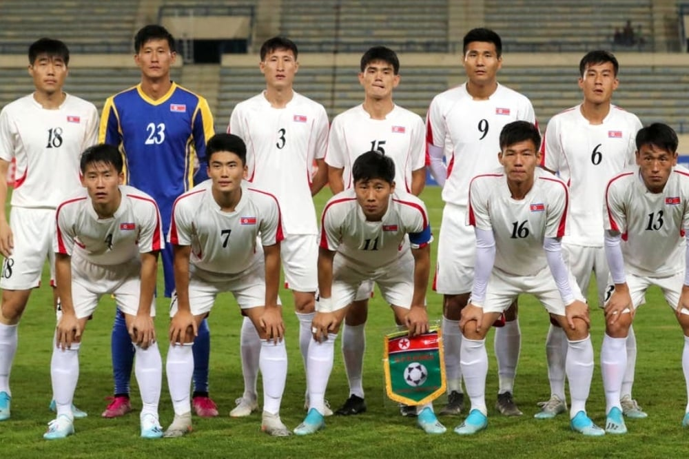 The North Korean men's football team last qualified for a World Cup finals in 2010. - AFP