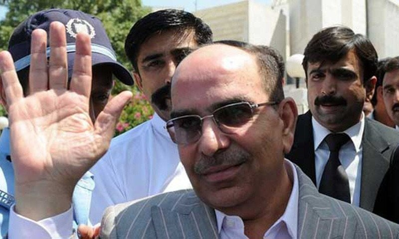 Real estate tycoon Malik Riaz landed in Lahore from Dubai on Sunday along with four other people. — AFP/File
