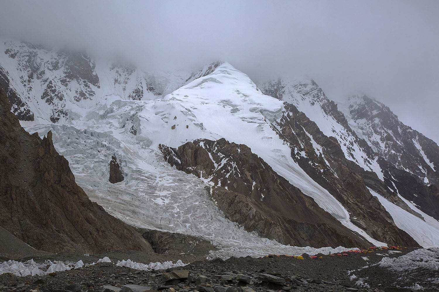A view of the K2 base camp. — Photo courtesy Imad Brohi/File