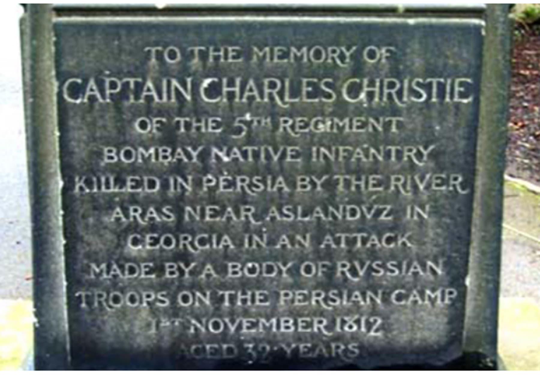 نومبر 1812ء میں کیپٹن کرسٹی مارا گیا