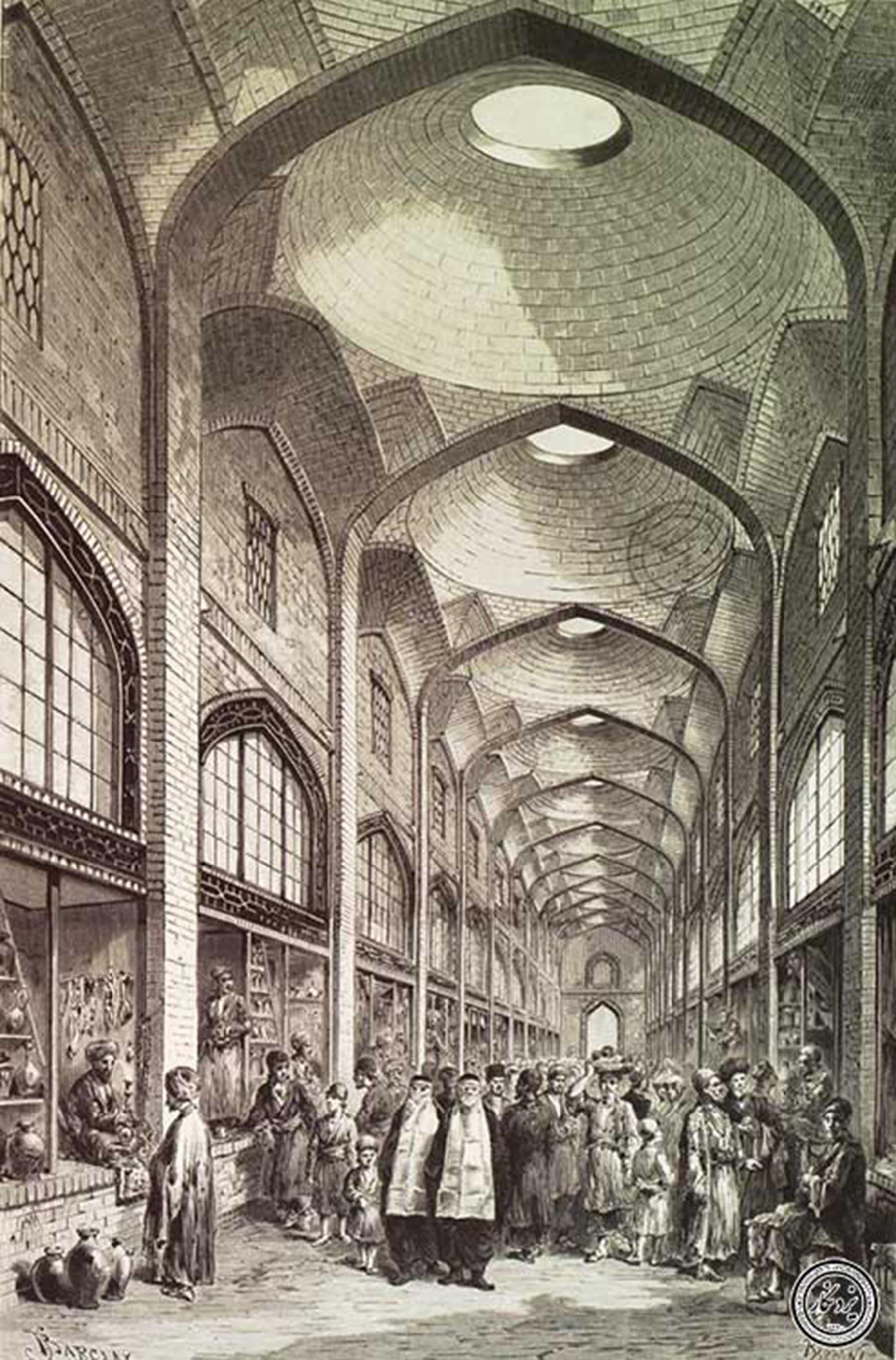 1800ء میں وکیل بازار، شیراز