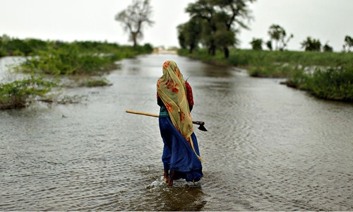 A joint study released by the two international lending agencies has put Pakistan among the top risk-prone countries in terms of increase in average temperatures and resultant economic and social losses. — AP/File