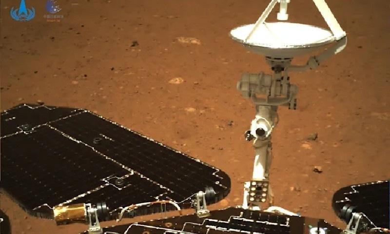 چین کے مریخ پر اترنے والے مشن کی اولین تصاویر جاری