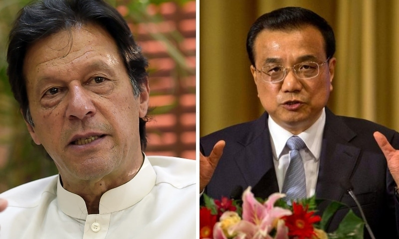 This combo photo shows Prime Minister Imran Khan (left) and his Chinese counterpart Li Keqiang. — Photos AP/Reuters