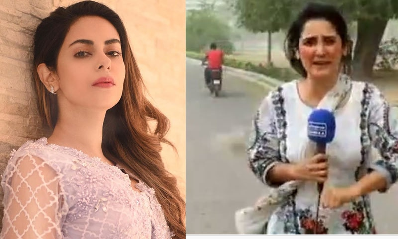 اداکارہ امر خان طوفان میں رپورٹنگ کرنے والی صحافی کی معترف