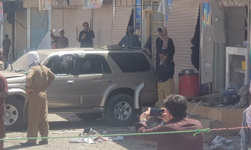 At least two people were killed and seven others were injured in a blast in Chaman. — DawnNewsTV