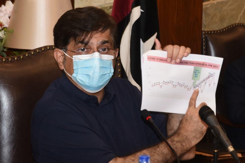 سندھ میں کووڈ-19 بندشوں میں نرمی کی کوئی گنجائش نہیں، مراد علی شاہ