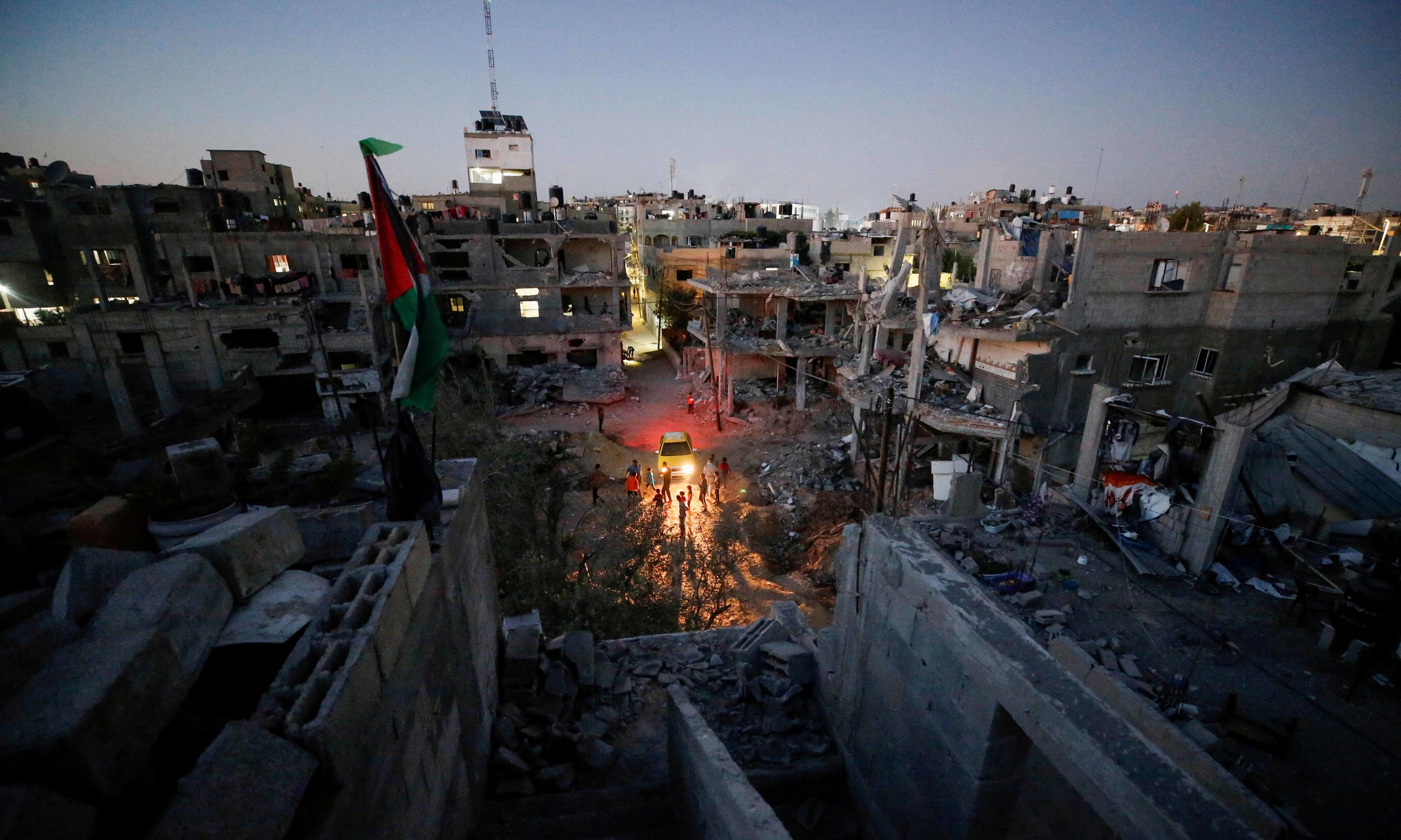 A general view of damaged houses which were destroyed by Israeli air strikes during the Israel-Hamas fighting, in Gaza Strip, May 23. — Reuters
